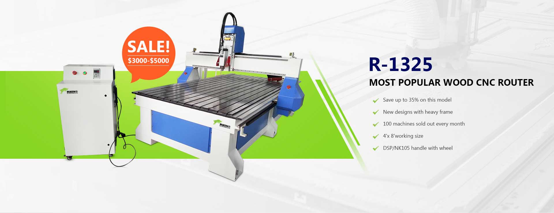 Wood CNC Router 4X8ft R-1325