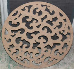 MDF Solid Wood 2D Cutting by Rhino CNC and Laser Machine