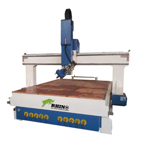 4 Axis Wood CNC Router with Spindle Swing 180 Degree Left and Right